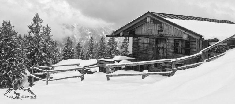 Der Winter ist zurück auch an der Bergalm